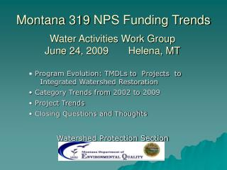 Montana 319 NPS Funding Trends