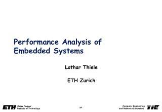 PerformanceAnalysisof EmbeddedSystems