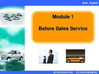 Module 1 Before Sales Service