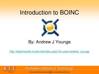 Introduction to BOINC