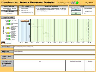 Project Dashboard:   Resource Management Strategies