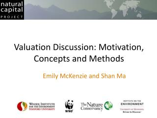 Valuation Discussion: Motivation, Concepts and Methods