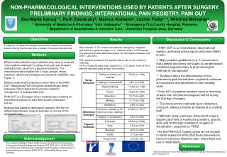 NON-PHARMACOLOGICAL INTERVENTIONS USED BY PATIENTS AFTER SURGERY.
