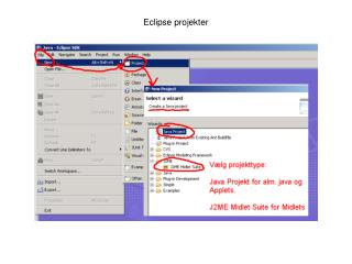Eclipse projekter