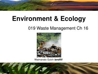 019 Waste Management Ch 16