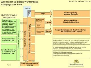 Werkrealschule Baden-Württemberg: Pädagogisches Profil