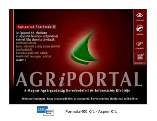 Formula/400 Kft. - Aspen Kft.