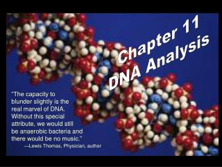 """The capacity to blunder slightly is the real marvel of DNA. Without this special"