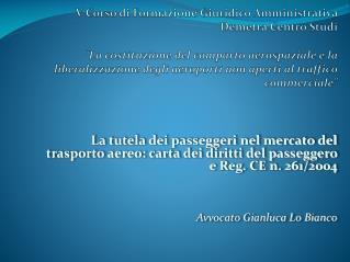 La liberalizzazione del trasporto aereo