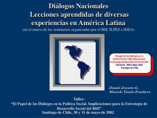 Diálogos Nacionales   Lecciones aprendidas de diversas experiencias en América Latina