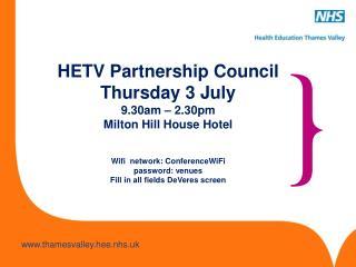 Welcome  Sandra Hatton Managing Director HETV