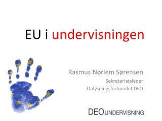 EU i  undervisningen