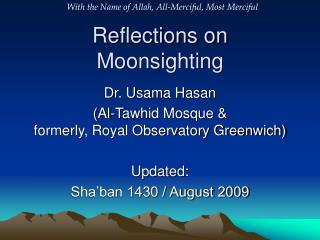 Reflections on Moonsighting