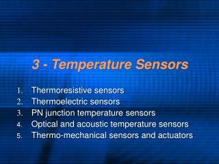3 - Temperature Sensors