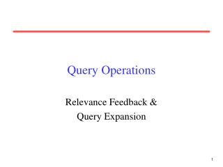 Query Operations