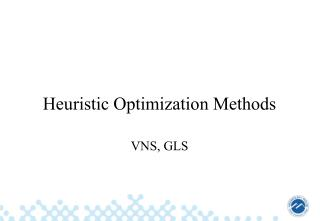 Heuristic Optimization Methods
