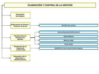 PLANEACIÓN Y CONTROL DE LA GESTIÓN