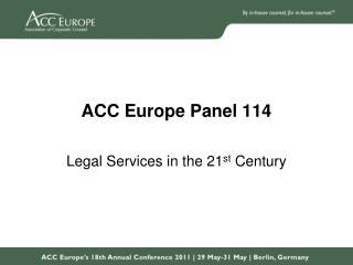 ACC Europe Panel 114