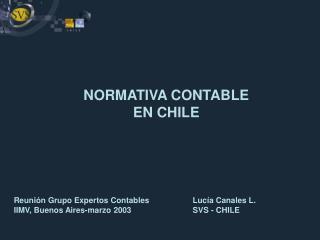 NORMATIVA CONTABLE  EN CHILE