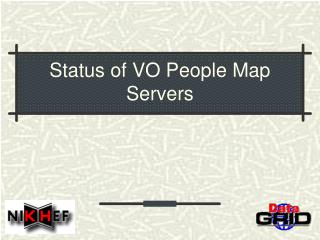 Status of VO People Map Servers