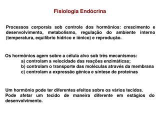Fisiologia End crina