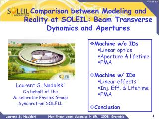 Comparison between Modeling and Reality at SOLEIL: Beam Transverse Dynamics and Apertures