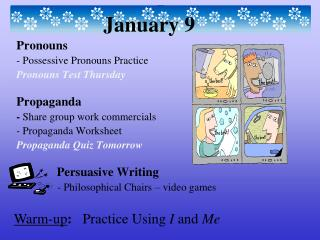 Warm-up :    Practice Using  I  and  Me