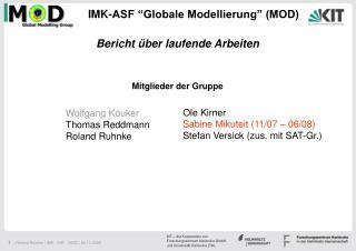 "IMK-ASF ""Globale Modellierung"" (MOD)"