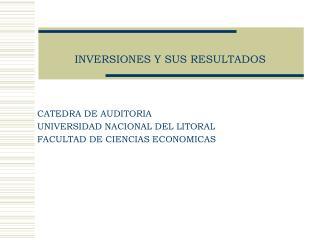 INVERSIONES Y SUS RESULTADOS