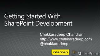 Getting Started With SharePoint Development