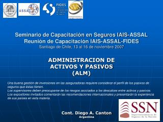 ADMINISTRACION DE ACTIVOS Y PASIVOS (ALM)