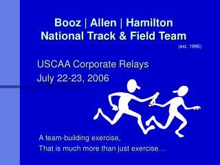 Booz | Allen | Hamilton National Track & Field Team