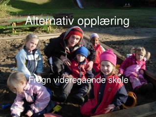 Alternativ opplæring