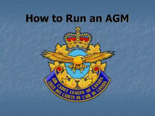 How to Run an AGM