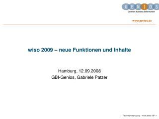 wiso 2009 – neue Funktionen und Inhalte