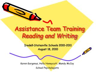 Assistance Team Training Reading and Writing