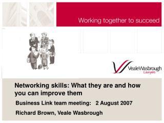 Networking skills: What they are and how you can improve them