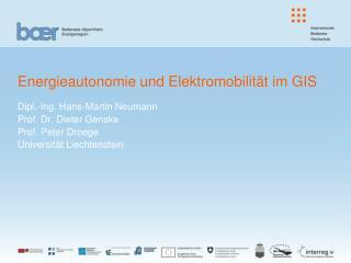 Energieautonomie und Elektromobilit�t im GIS