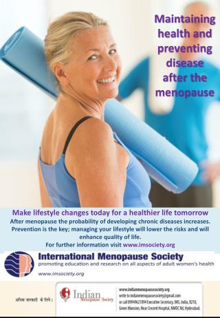Maintaining health and preventing disease after the menopause