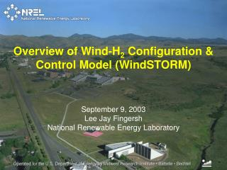 September 9, 2003 Lee Jay Fingersh  National Renewable Energy Laboratory