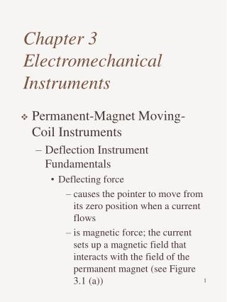 Chapter 3 Electromechanical Instruments