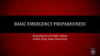 Basic Emergency Preparedness