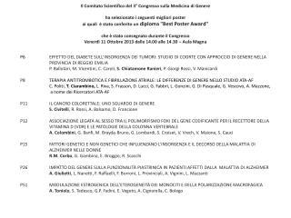 Il Comitato Scientifico del  3° Congresso sulla Medicina di Genere
