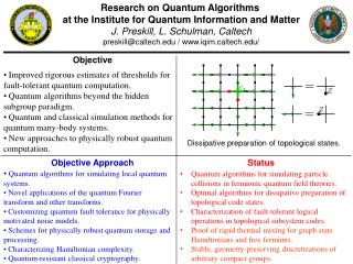 Research on Quantum Algorithms  at the Institute for Quantum  Information and Matter