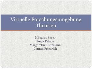 Virtuelle Forschungsumgebung Theorien