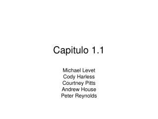 Capitulo 1.1