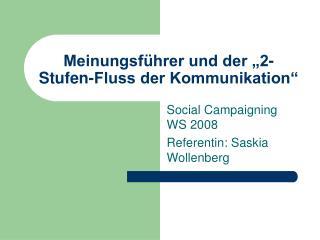 """Meinungsführer und der """"2-Stufen-Fluss der Kommunikation"""""""