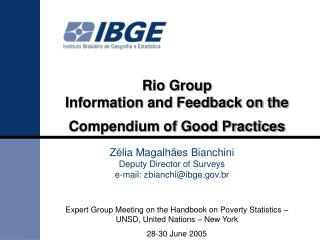 Rio Group   Information and Feedback on the Compendium of Good Practices