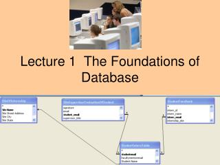 Lecture 1  The Foundations of Database