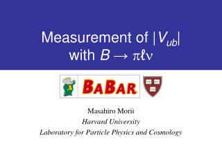 Measurement of | V ub | with  B ?  p ? n